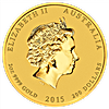 Australian Gold Lunar Series 2015 - Year of the Goat - 2 oz