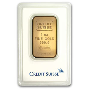 Credit Suisse Gold Bar Circulated In Good Condition 1 Oz