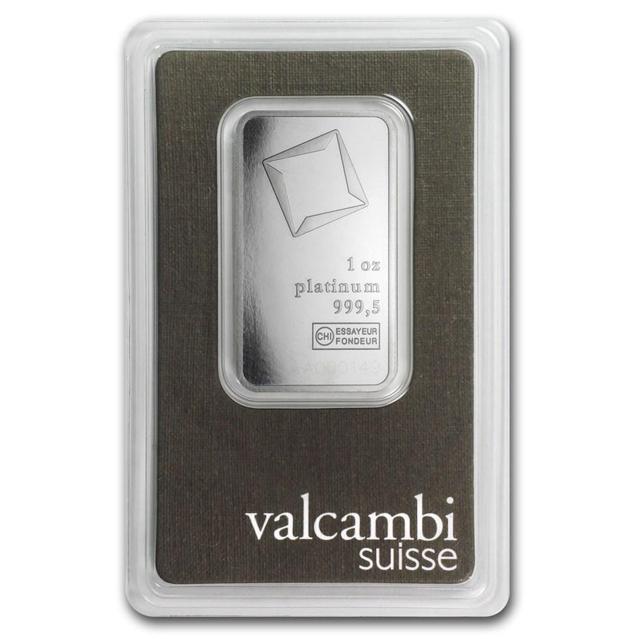 Valcambi Platinum Bar 1 Oz