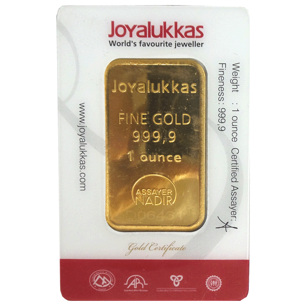 Joyalukkas Gold Bar 1 Oz