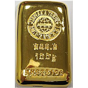 Tanaka Tokyo Gold Bar 100 G
