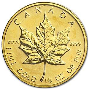 Canadian Gold Maple 1986 - 1/4 oz