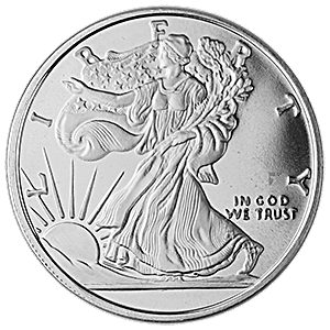 Walking Liberty Silver Round - Circulated in good condition - 1 oz