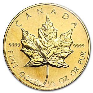 Canadian Gold Maple 1986 - 1/2 oz
