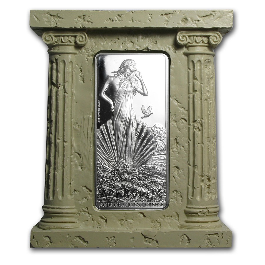 Niue Silver Gods Of Ancient Greece Series Set 10 Oz