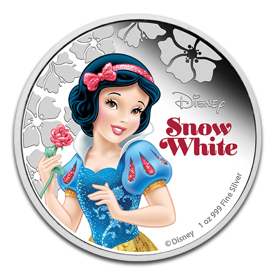 Niue 2015 Silver Disney Princess Snow White 1 Oz