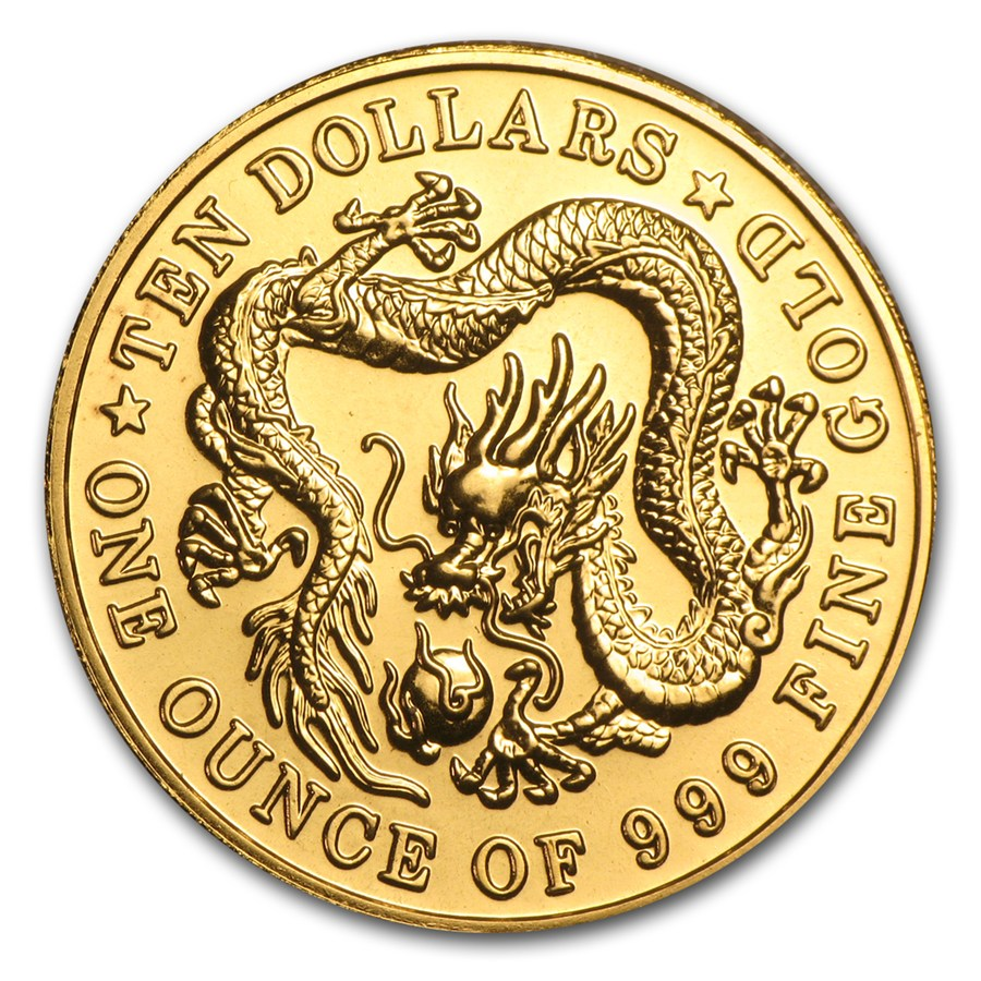 Singapore Gold Dragon 1983 Proof Circulated In Good
