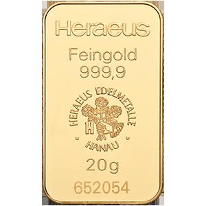 Heraeus Gold Bar - 20 g