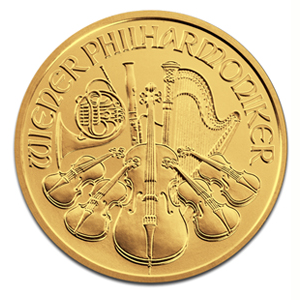 Austrian Gold Philharmonic 2012 1 10 Oz