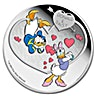 Niue 2016 Silver Crazy in Love - Donald and Daisy - 1oz