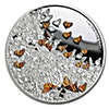 Niue 2016 Silver Great Migrations - Monarch Butterflies - 1 oz
