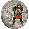 Niue 2016 Silver Warriors of History - Viking - Antique Finish -1 oz