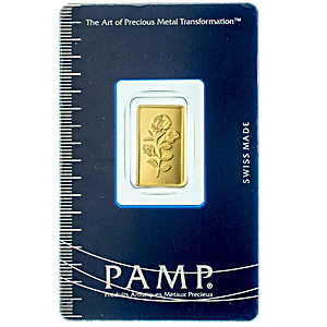PAMP Gold Bar - Circulated in good condition - 2.5 g