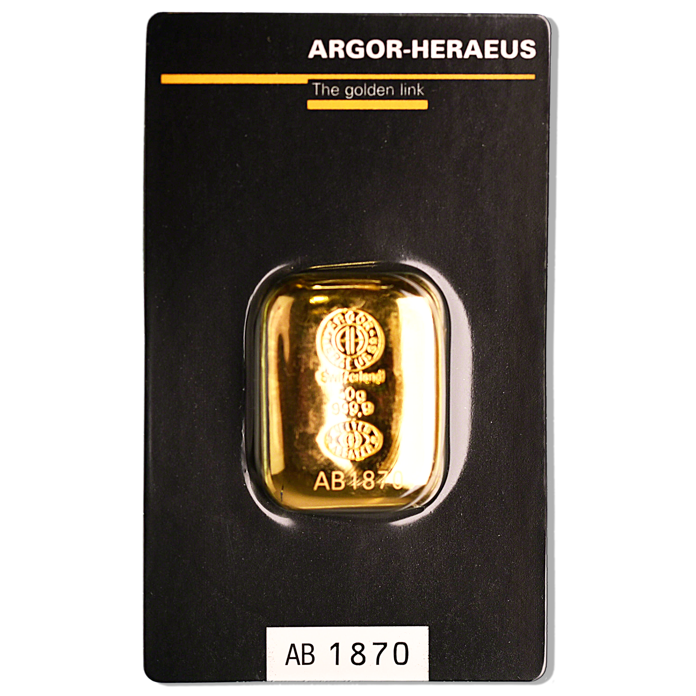 Argor Heraeus Gold Cast Bar 50 G