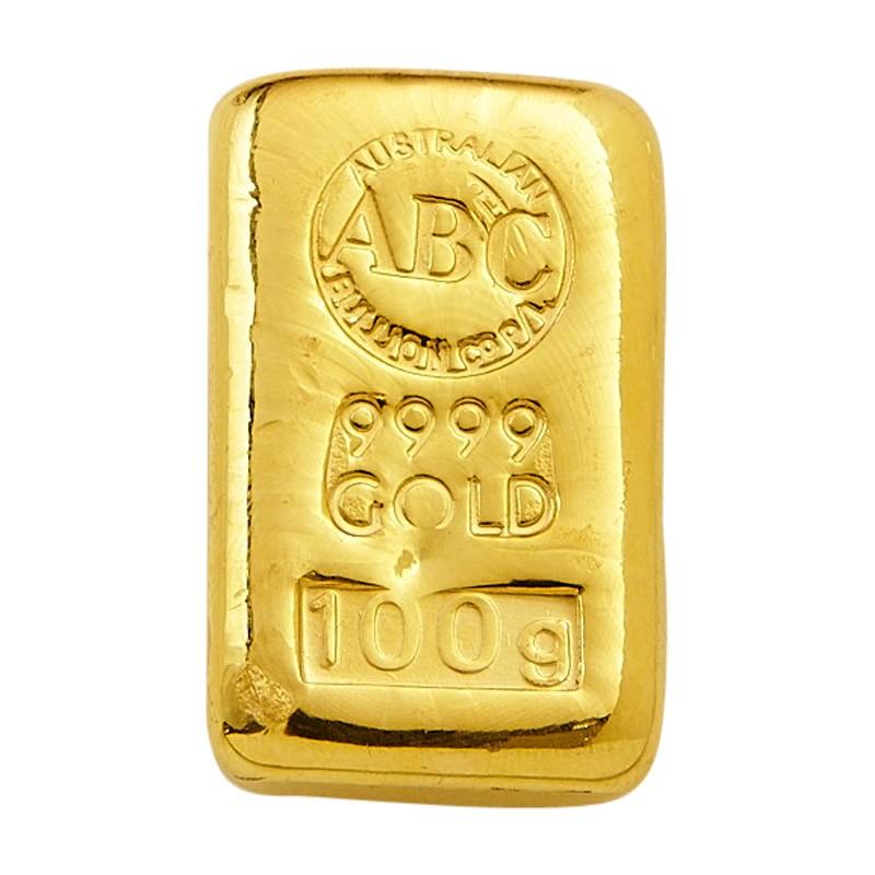 Abc Bullion Gold Cast Bar 100 G