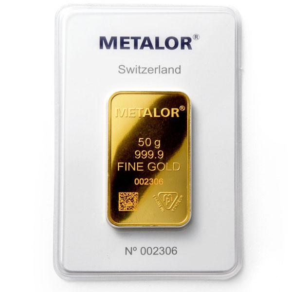Metalor Gold Bar 50 G