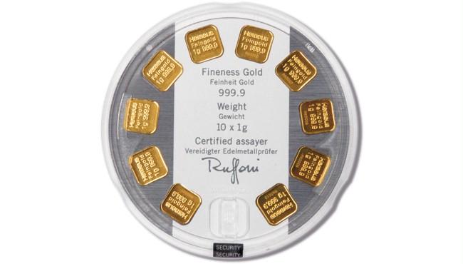 Heraeus Gold Bar Multidisc 10x1 G