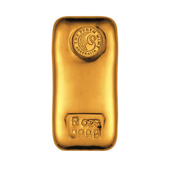 Perth Mint Gold Cast Bar 5 Oz