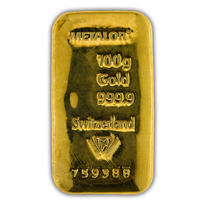 Metalor Gold Cast Bar 100 G