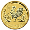 Australian Gold Lunar Series 2017 - Year of the Rooster - 2 oz