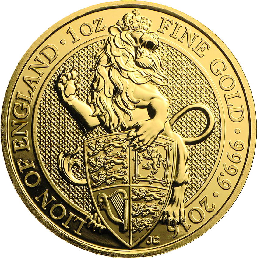 United Kingdom Gold Queen S Beast 2016 Lion 1 Oz
