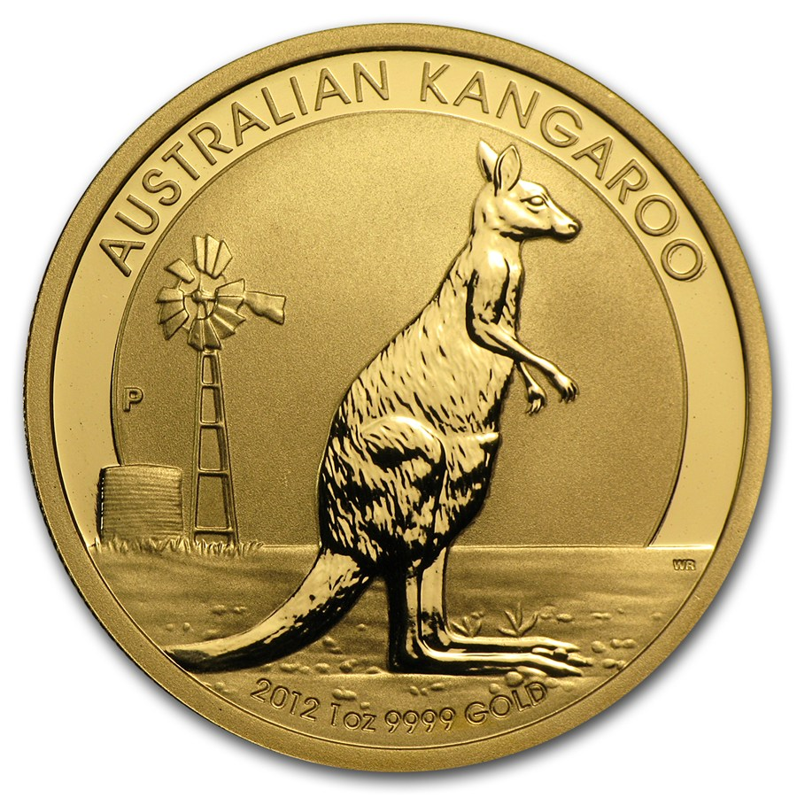 Australian Gold Kangaroo Nugget 2012 Circulated In Good