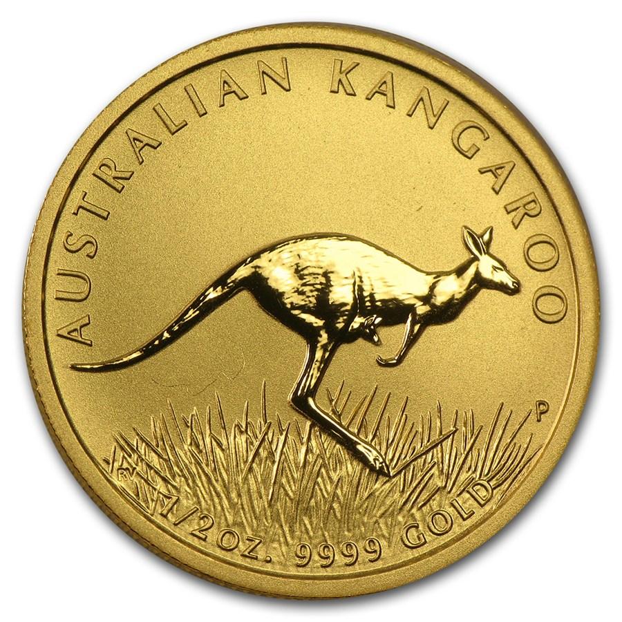 Australian Gold Kangaroo Nugget 2008 1 2 Oz