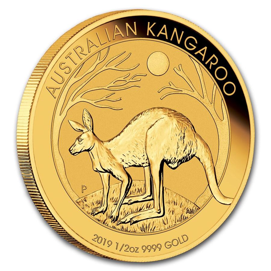 Australian Gold Kangaroo Nugget 2019 1 2 Oz