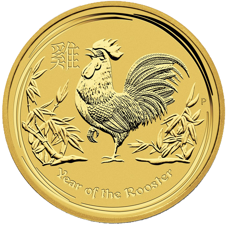 Australian Gold Lunar Series 2017 Year Of The Rooster 1 Oz