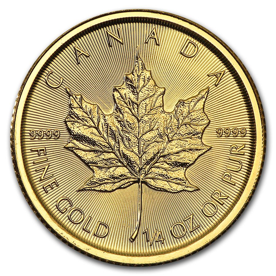 Canadian Gold Maple 2017 1 4 Oz