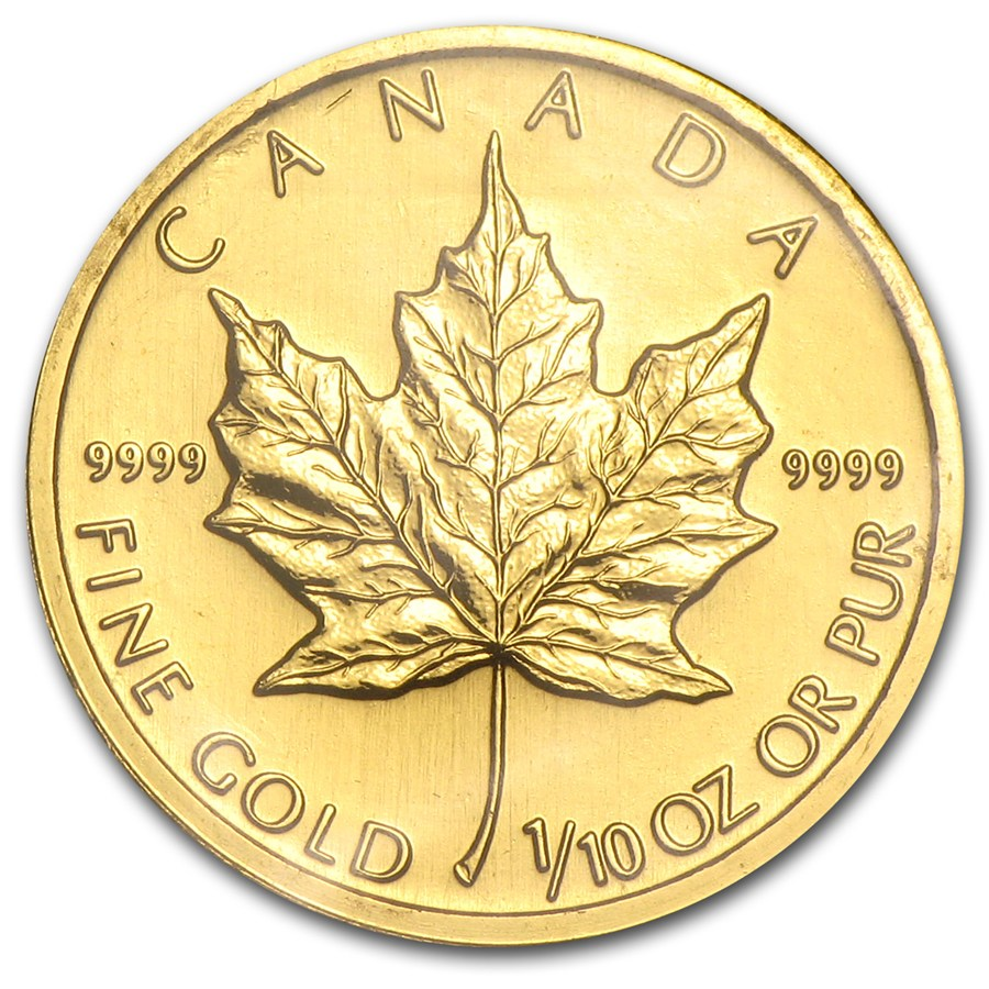 Canadian Gold Maple 1995 1 10 Oz