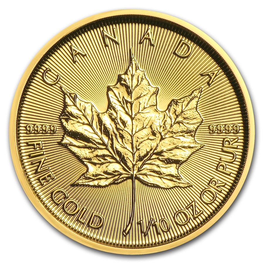 Canadian Gold Maple 2018 1 10 Oz