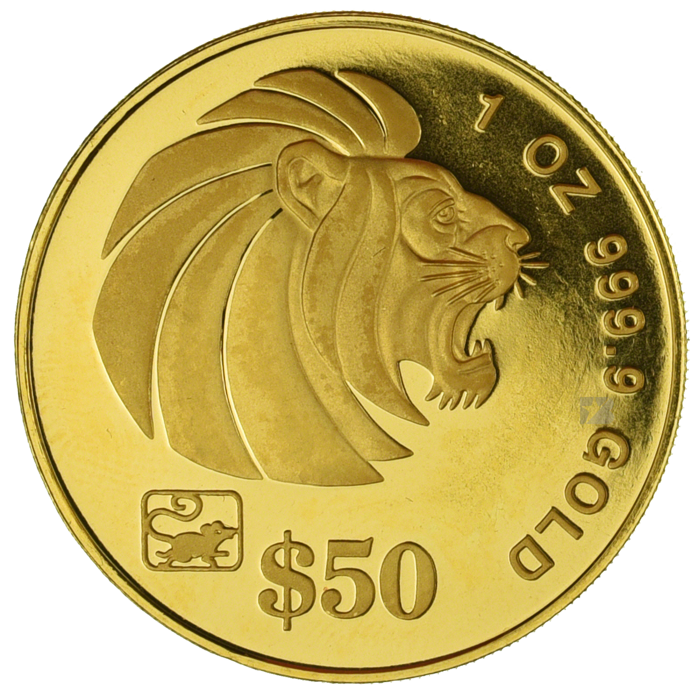 Singapore Gold Lion 1996 1 Oz
