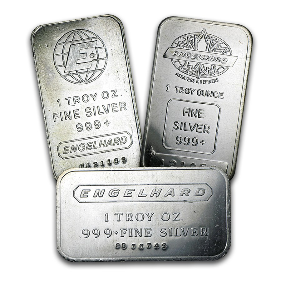 Engelhard Corporation Silver Bar 1 Oz