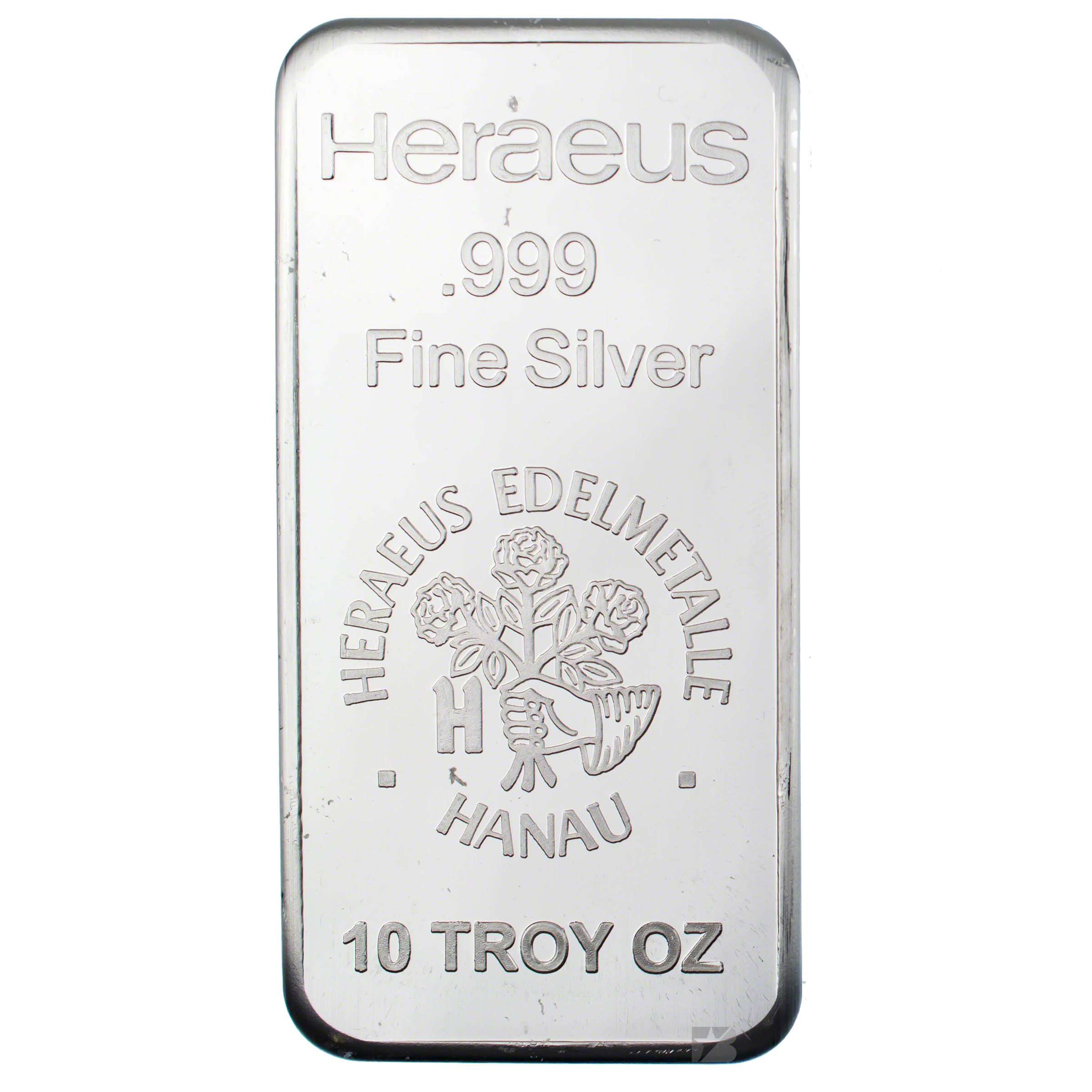 Heraeus Silver Bar 10 Oz