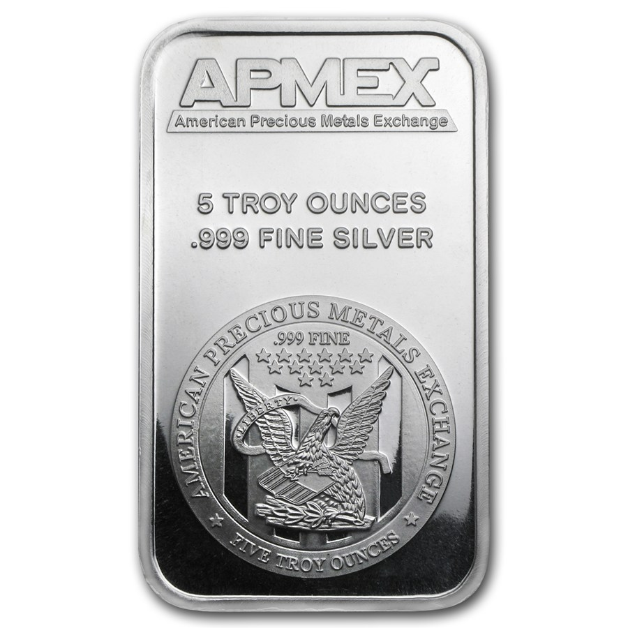 Apmex Silver Bar 5 Oz