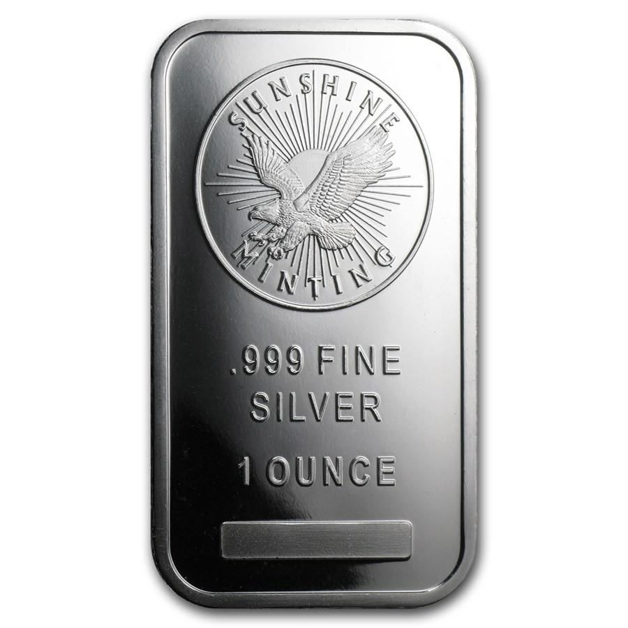 Sunshine Minting Inc Silver Bullion Bar 10 Oz
