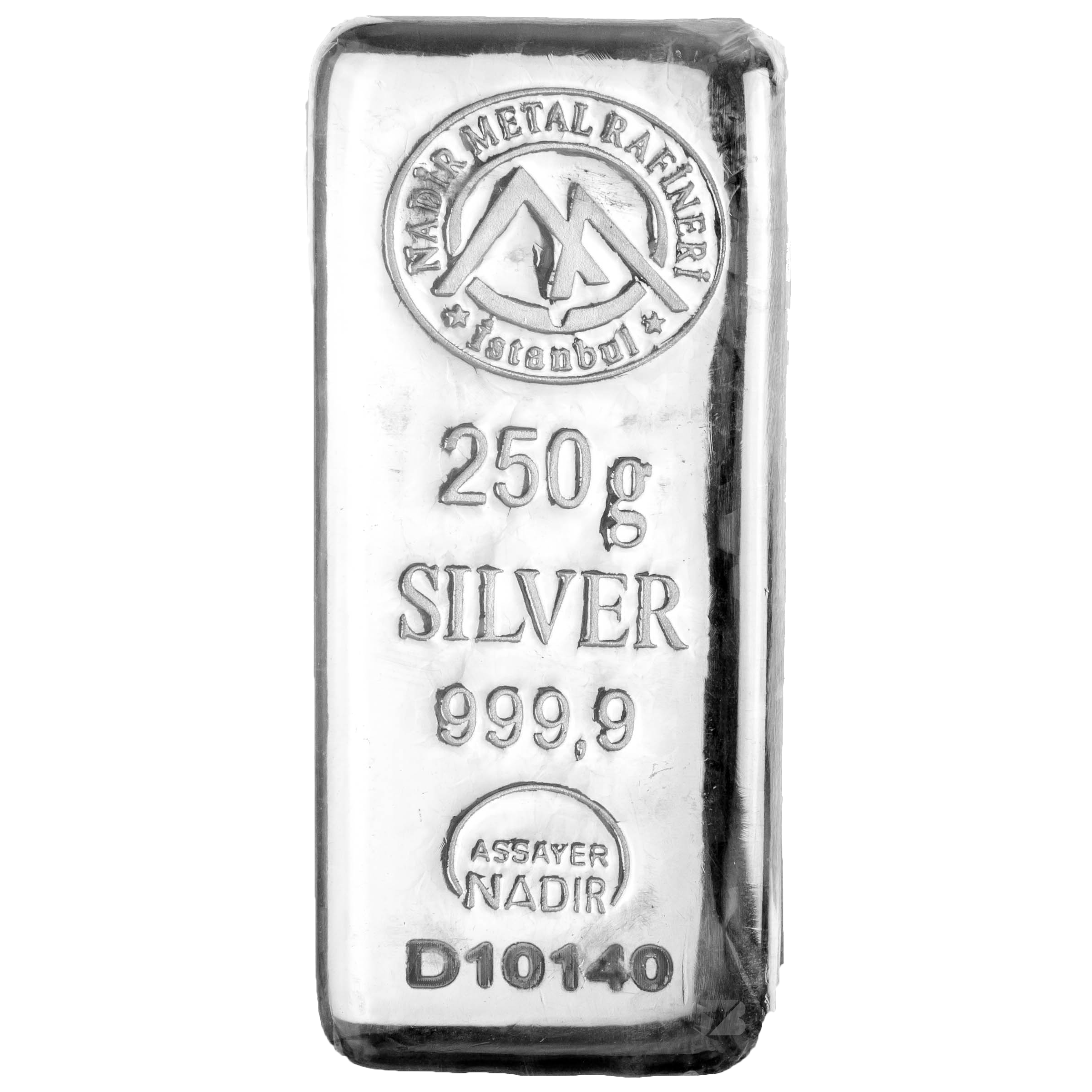 Silver Turkish Platinum: Nadir Refinery Silver Bar