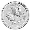 Australian Silver Lunar Series 2017 - Year of the Rooster - 1 oz