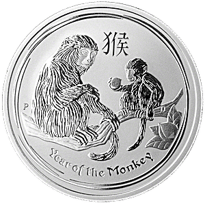Australian Silver Lunar Series 2016 - Year of the Monkey - 1/2 oz