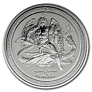 Isle of Man Silver Angel 2016 - Reverse Proof - 1 oz