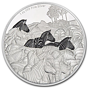 Niue 2016 Silver Great Migrations - Zebra - 1 oz