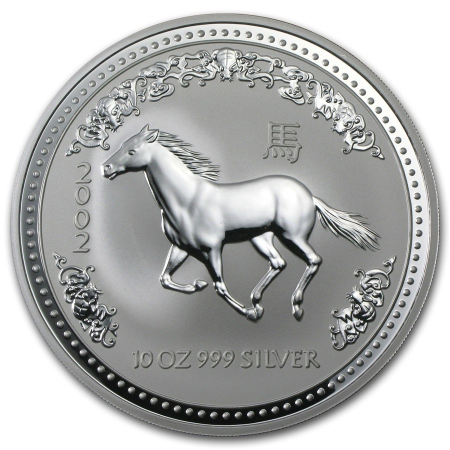 Australian Silver Lunar Series 2002 Year Of The Horse