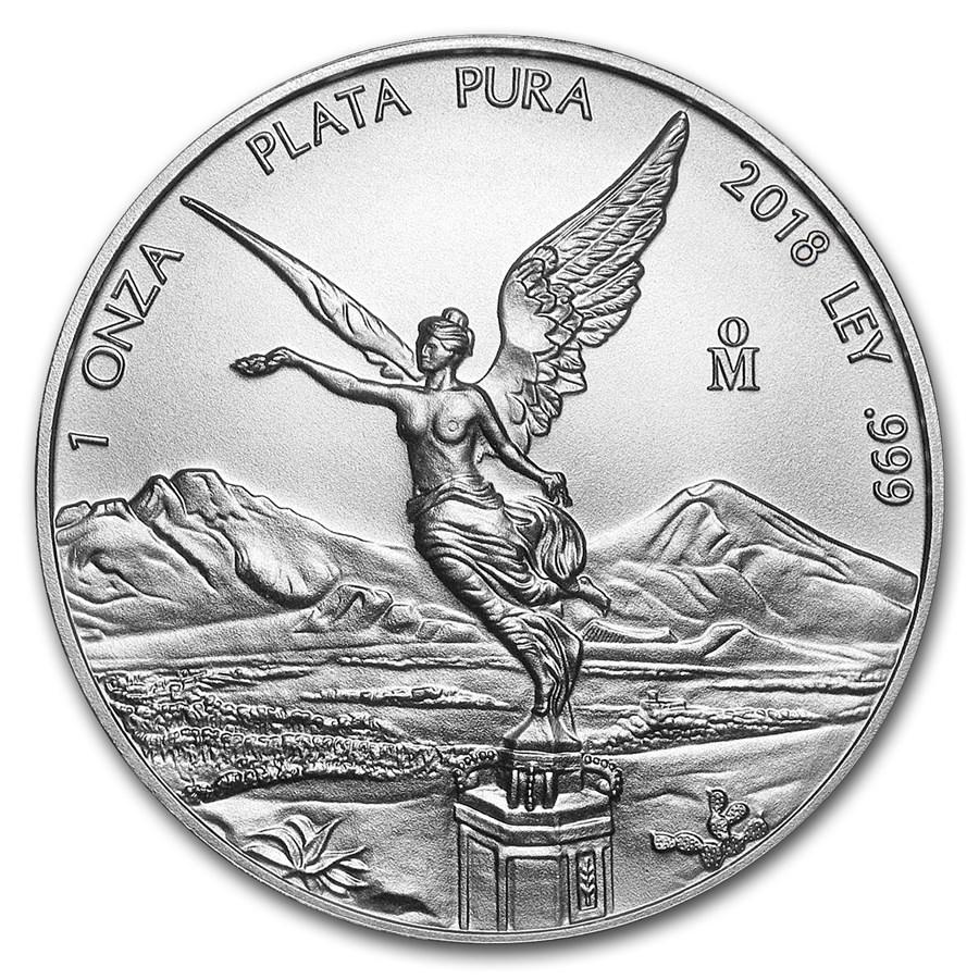 Mexican Silver Libertad 2018 1 Oz