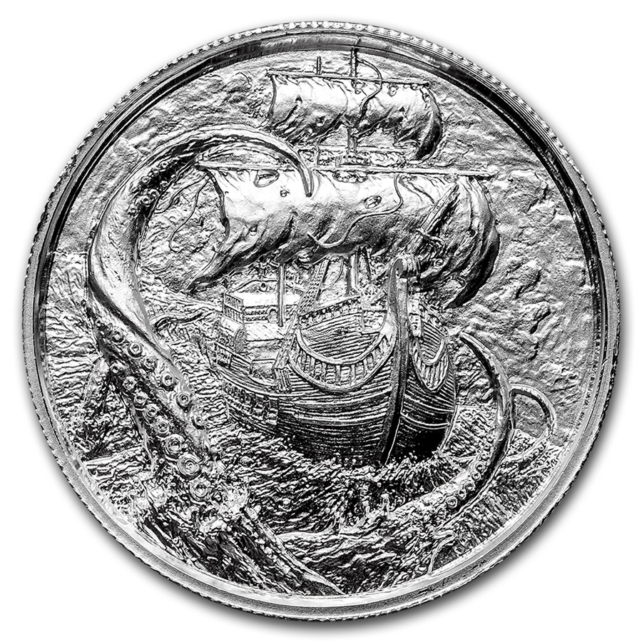 The Kraken Silver Round 2 Oz
