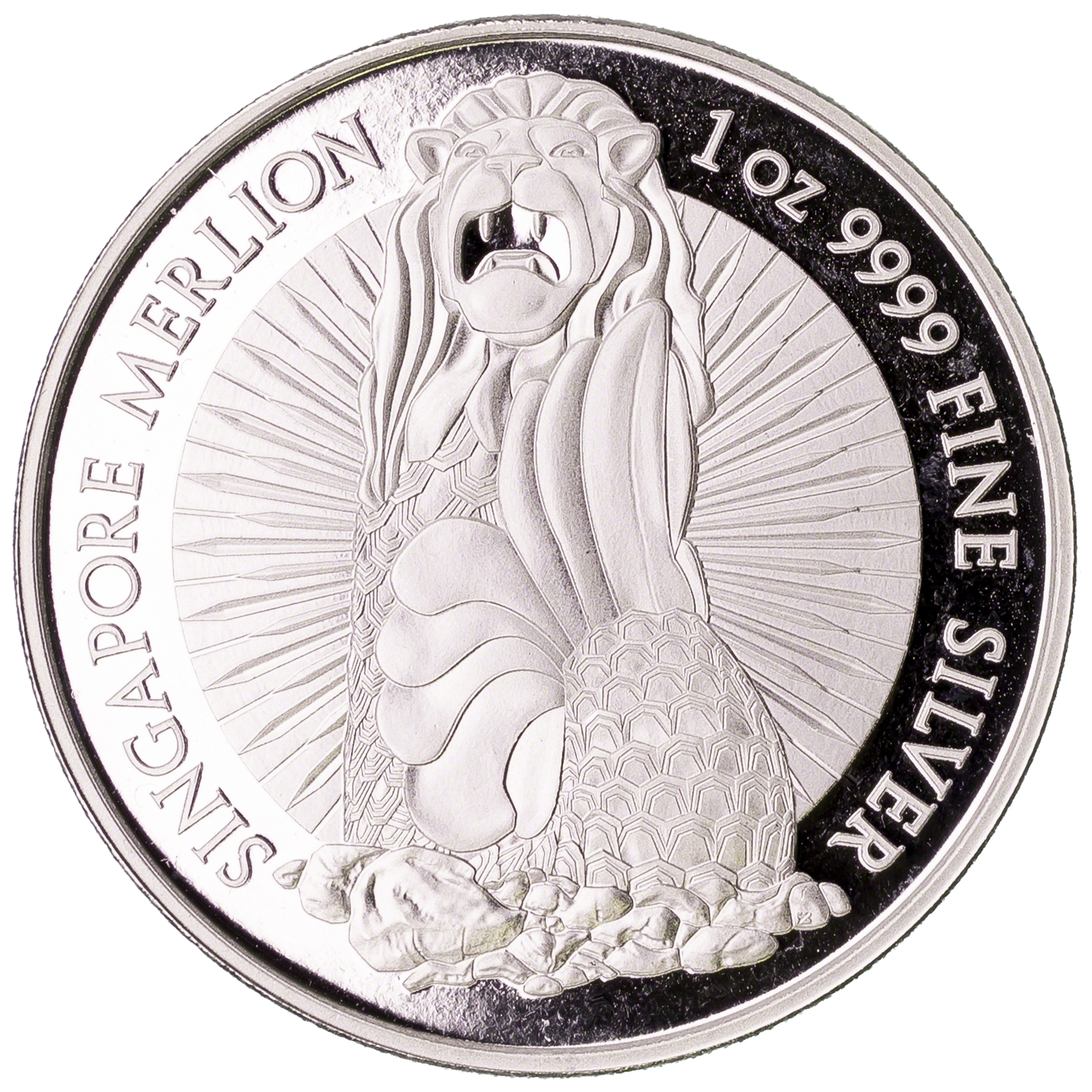 Singapore Silver Merlion Round Low Spread Of 0 99 1 Oz